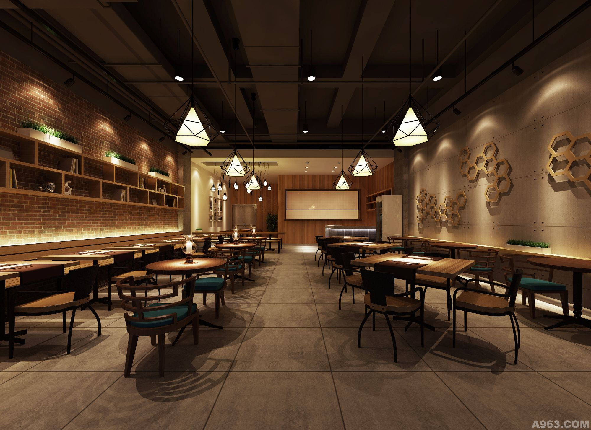 炖牛快餐店 - 沈阳餐饮空间设计作品 – 方案 – 经典